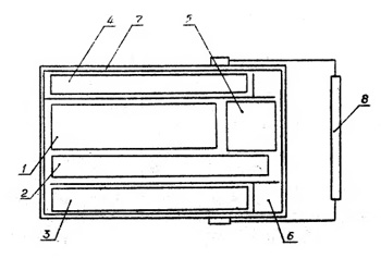 121ФА-01 Схема расположения элементов конструкции в преобразователе