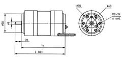 АВЕ-052-4МУ3 габаритный чертеж. Исполнение IM 3601.