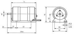 АВЕ-052-4МУ3 габаритный чертеж. Исполнение IM 1001.