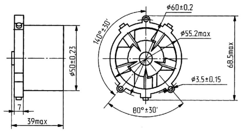ДВО-1-400 вентилятор чертеж