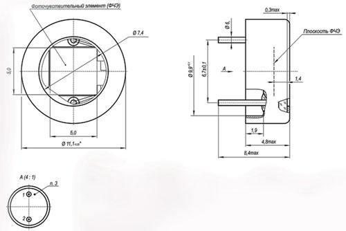 ФД-200-520 фотодиод габаритные
