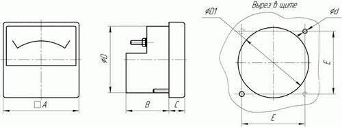 М42100 амперметр чертеж прибора