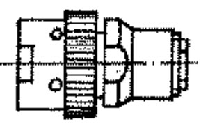 SR-50-135FV cable plug drawing