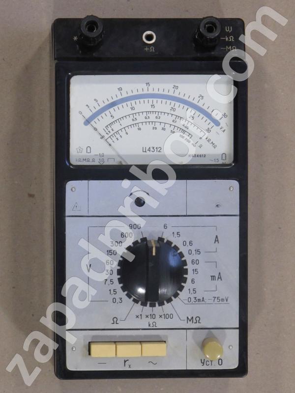 Ц4312 вид панели прибора.
