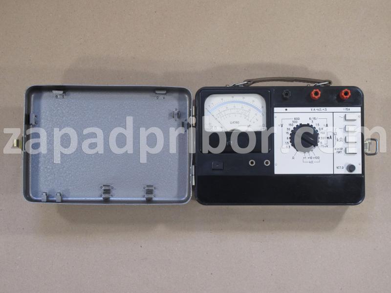 Ц4380 вид панели прибора.
