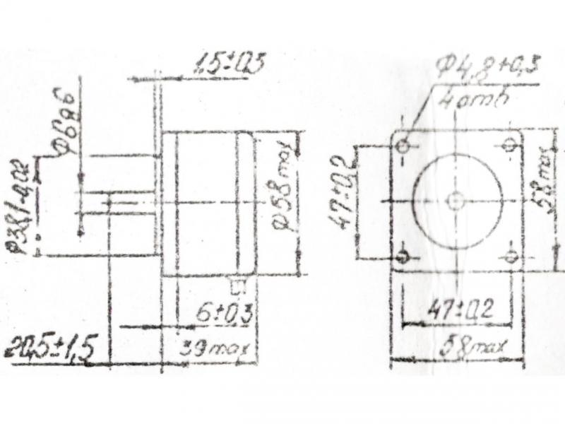 ДШИ-200-1-1 чертеж двигателя.