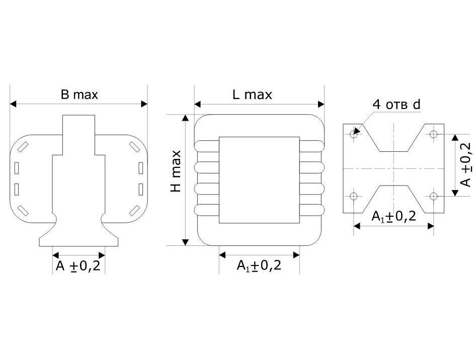 ТАН чертеж трансформатора.