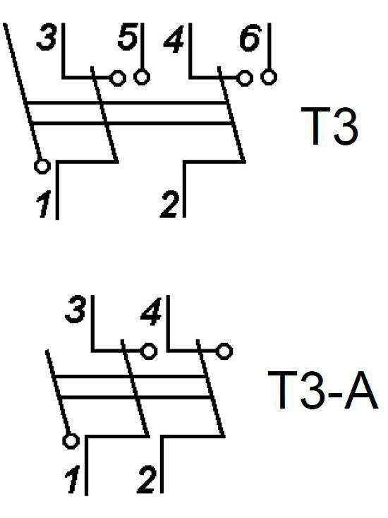 Т3 электрическая схема