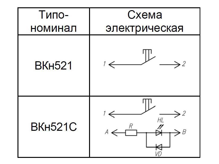 ВКн521 электрические схемы