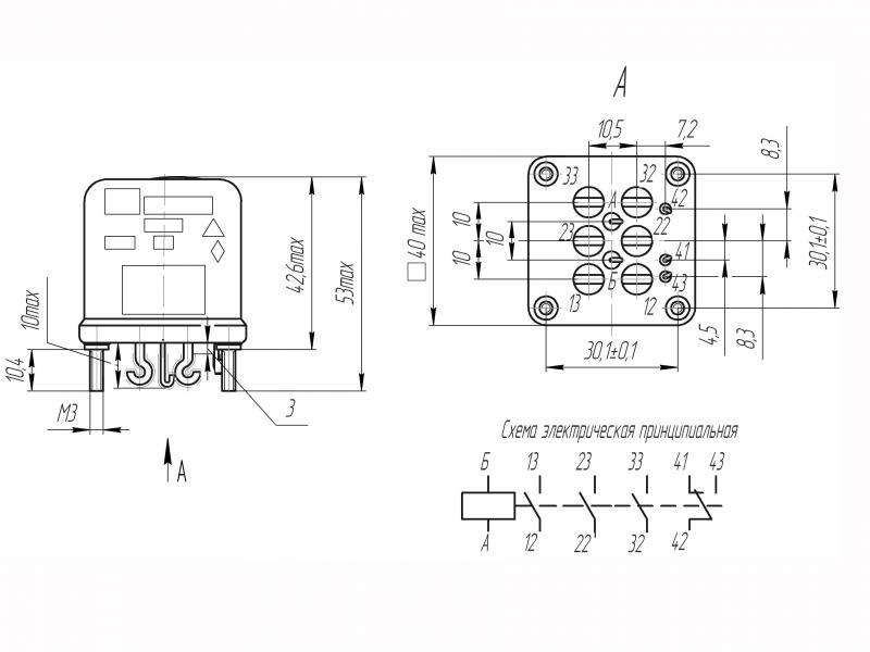 РЭК91 принципиальная схема.