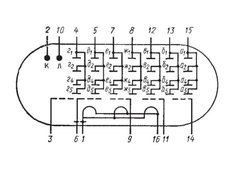 ИВЛ1-7/5 схема индикатора.
