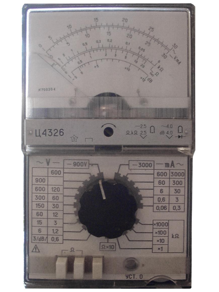 схема и инструкция к прибору ц4382