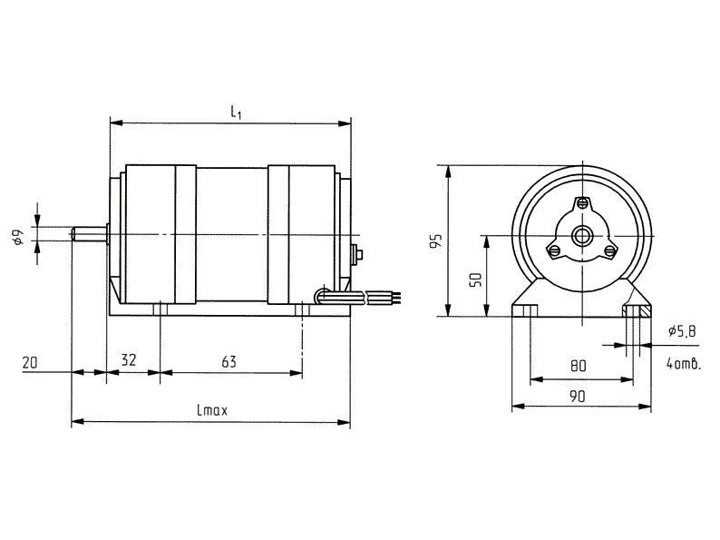 Электродвигатель ав 052 90 ватт схема подключение