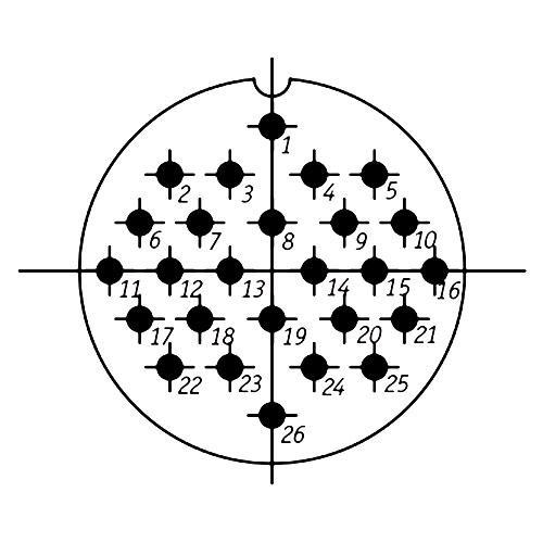 ШР48П26ЭГ3 схема расположения
