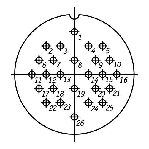 ШР48П26НГ2 схема расположения