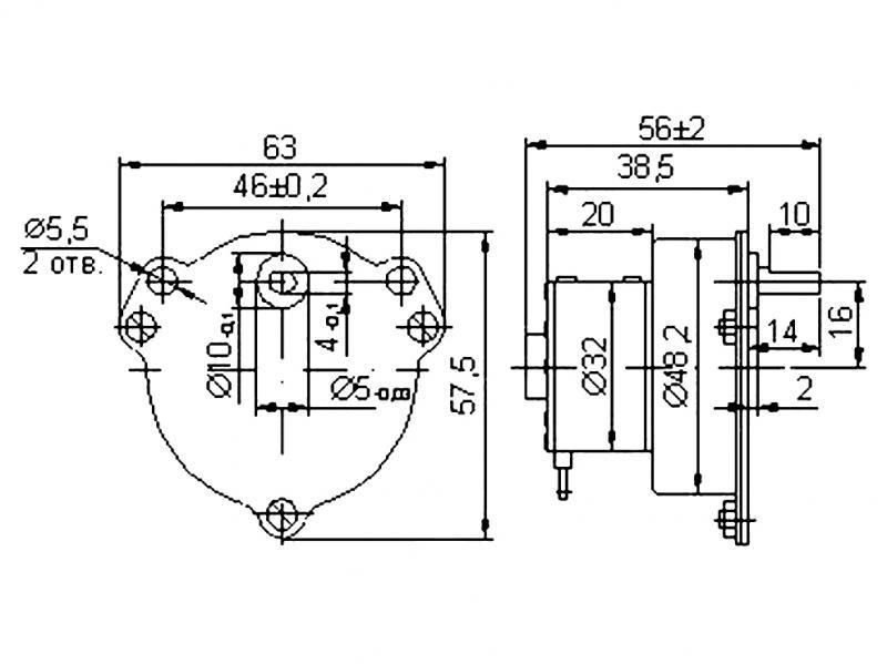 ДСОР 32-01 электродвигатель
