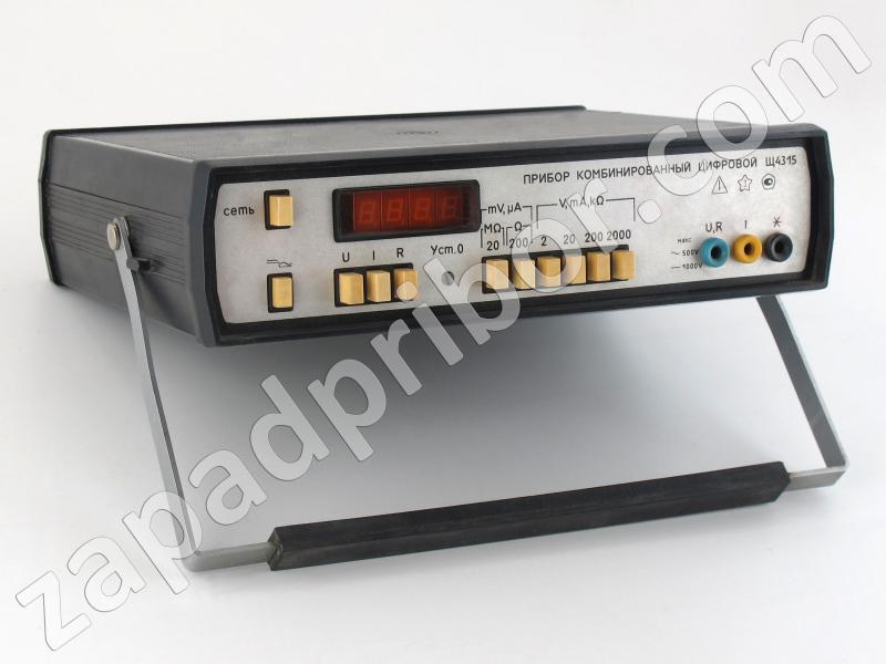 Прибор комбинированный цифровой щ4315 схема
