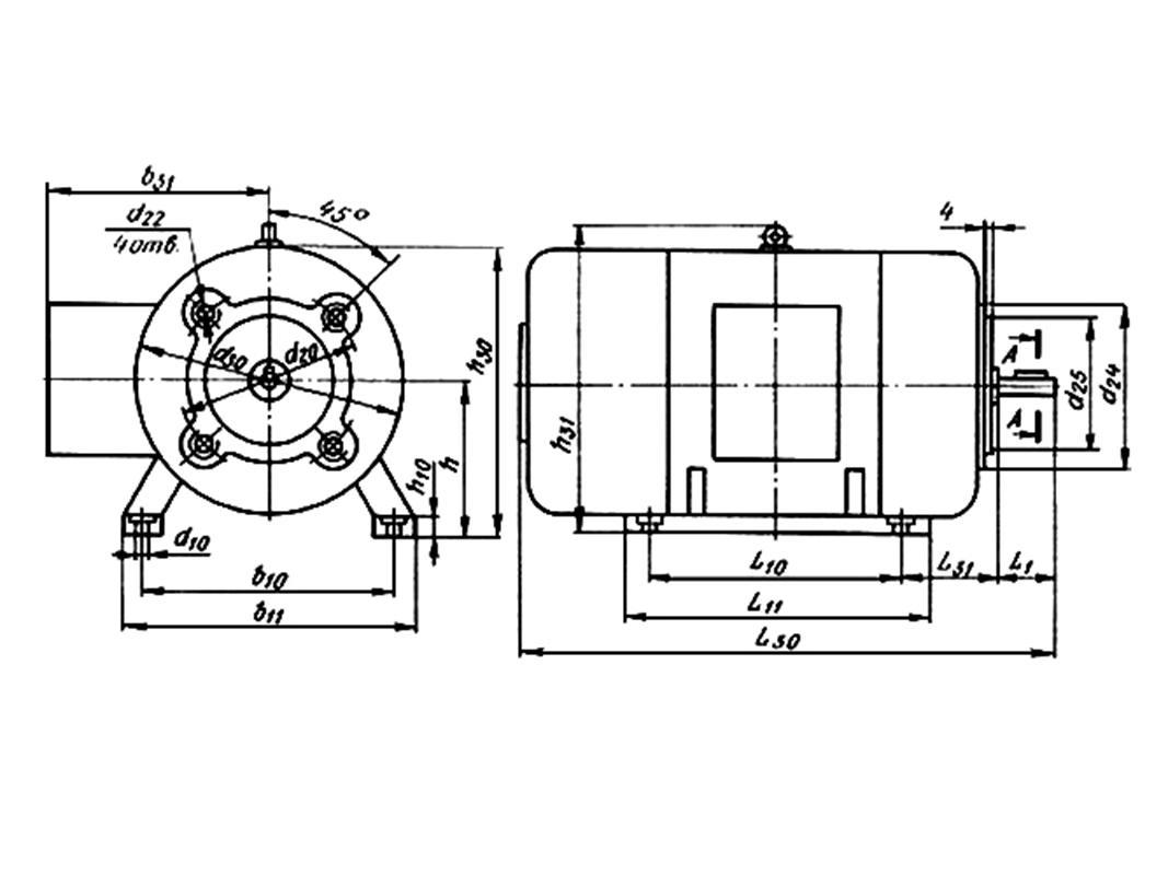 электродвигатель п22м схема подключения