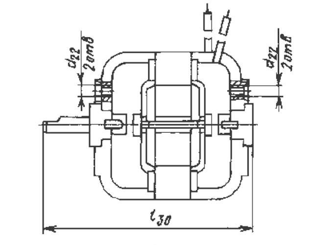 АД-6-2/36А1 чертеж электродвигателя.