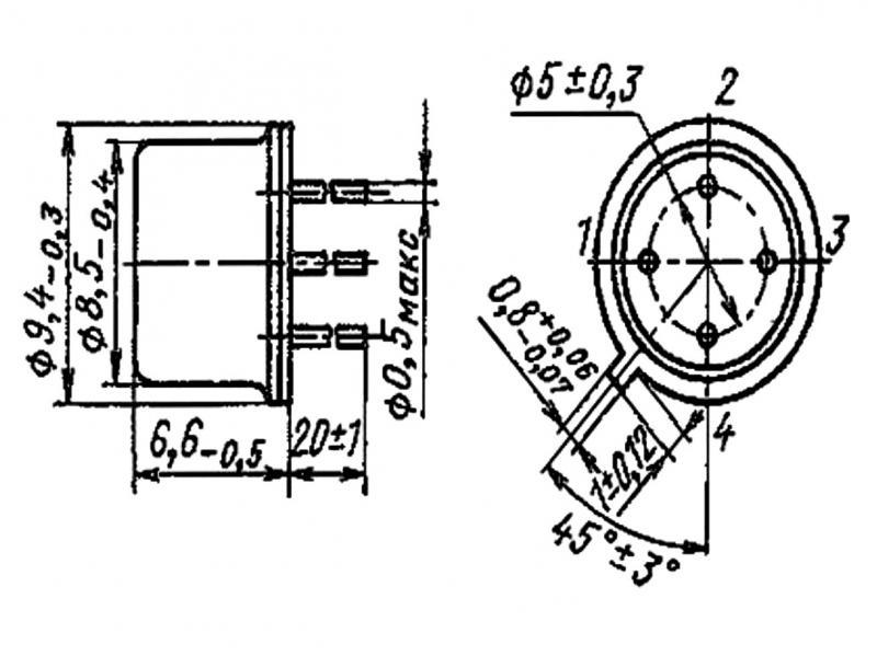 Схема с применением аод101б