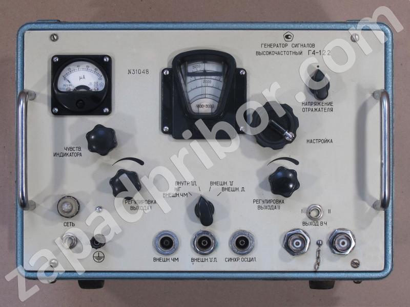 Г4-122 вид панели прибора.