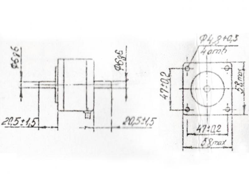 ДШИ-200-1-3 чертеж двигателя.