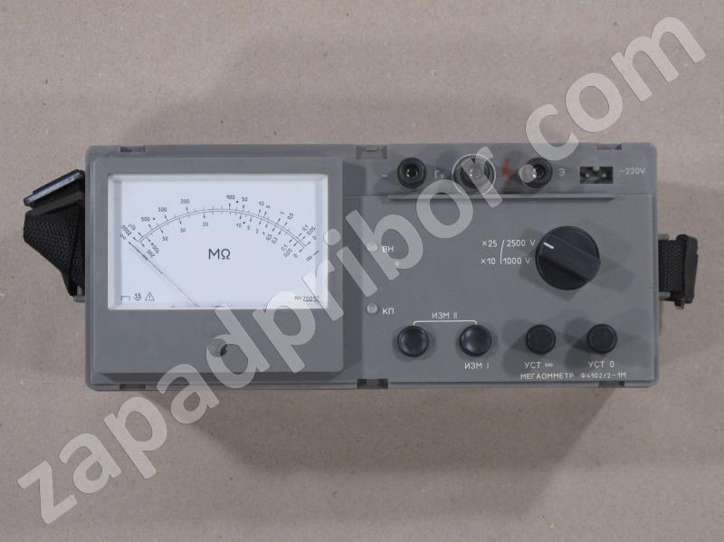 Ф4102/2-1М вид панели прибора.