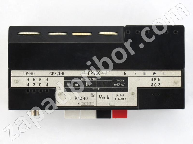 Р4340 вид панели приставки.
