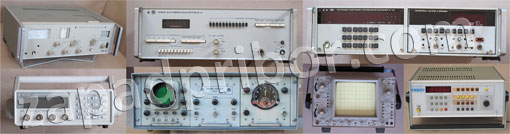 oscilloscopes, voltmeters, frequency meters and frequency standards, generators, spectrum analyzers