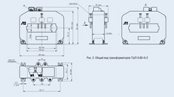 TSHL-0,66-III-2 - Current transformer - Drawing.